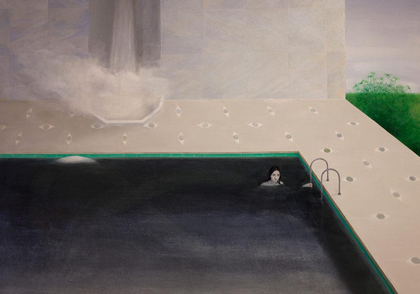 AYLİN ZAPTÇIOĞLU -İSİMSİZ / UNTITLED2017Tuval üzerine yağlı boya / Oil on canvas150 x 200 cm