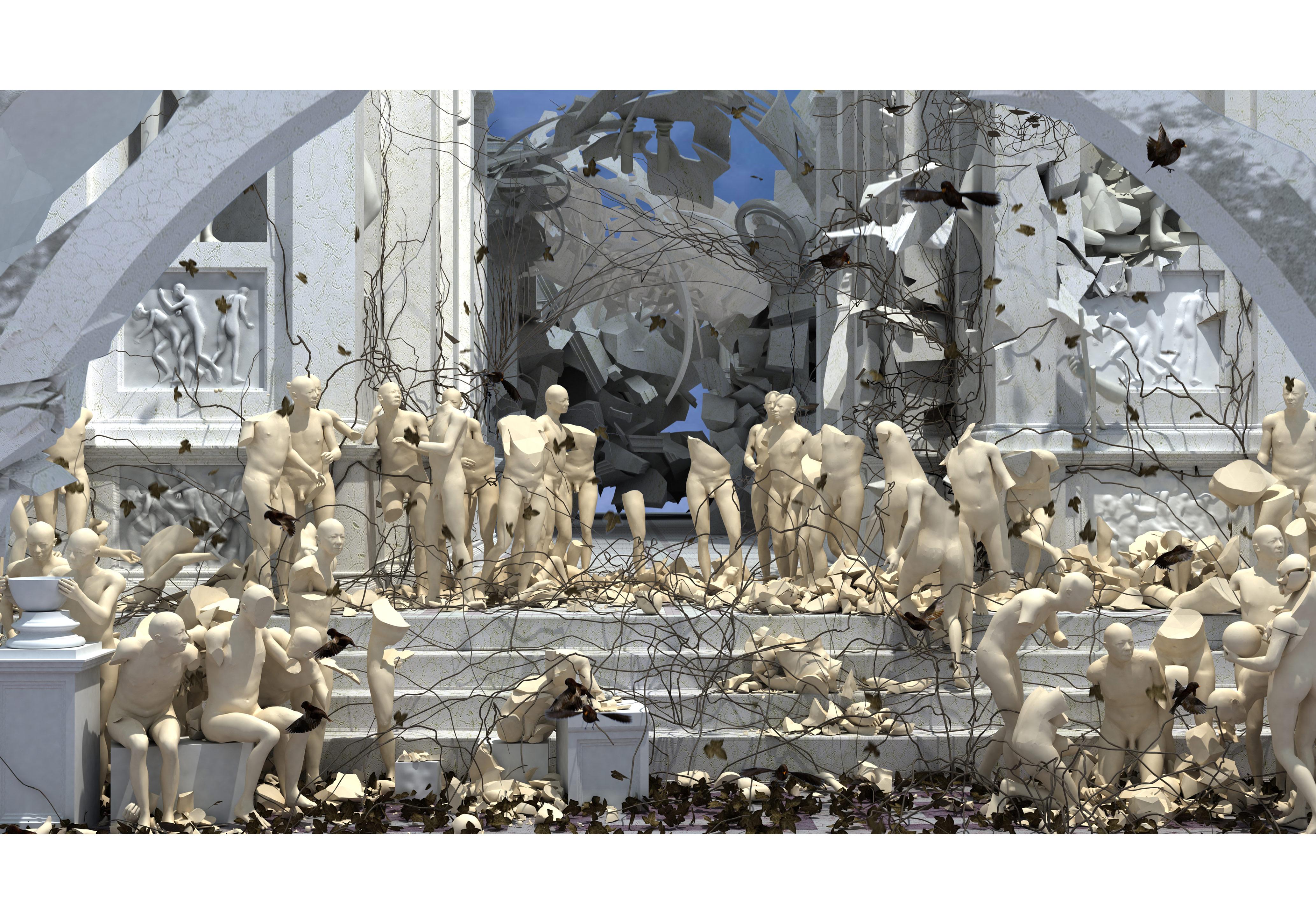 "Miao Xiaochun,Restart 2008-20103D computer animation 14'22"", Edition 7"