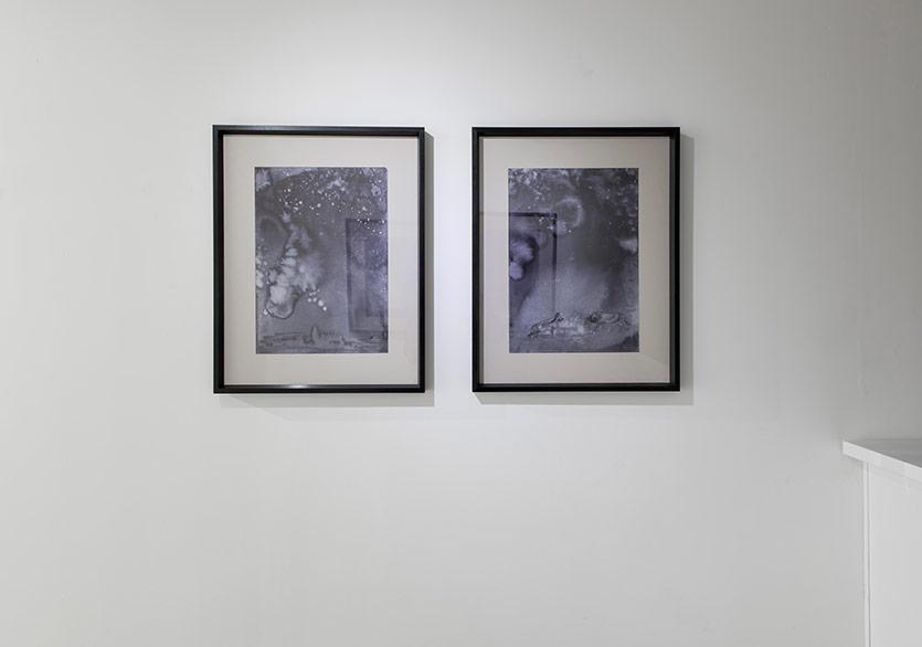 İlhan Sayın - İsimsiz, kağıt üzerine mürekkep her biri 55x70, 2018