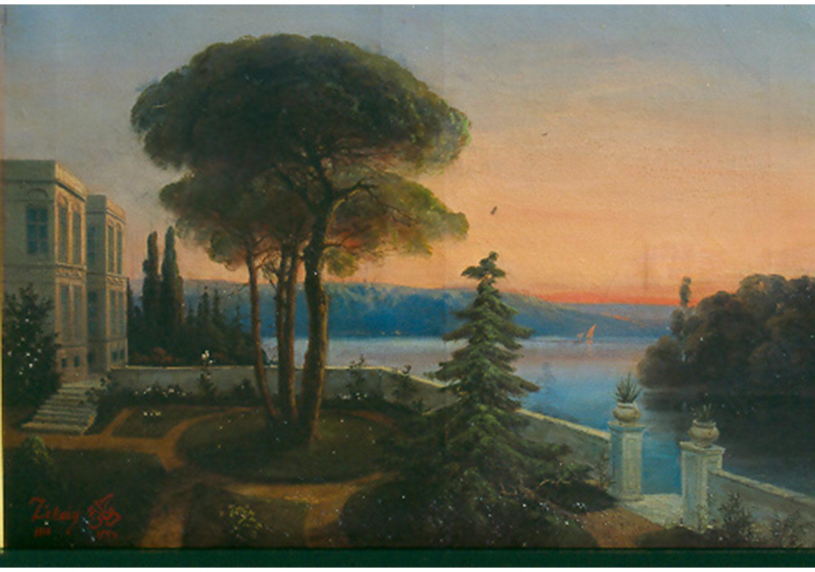 Hüseyin Zekai Paşa, Manzara, 65x85, Tuval üzeri Yağlıboya