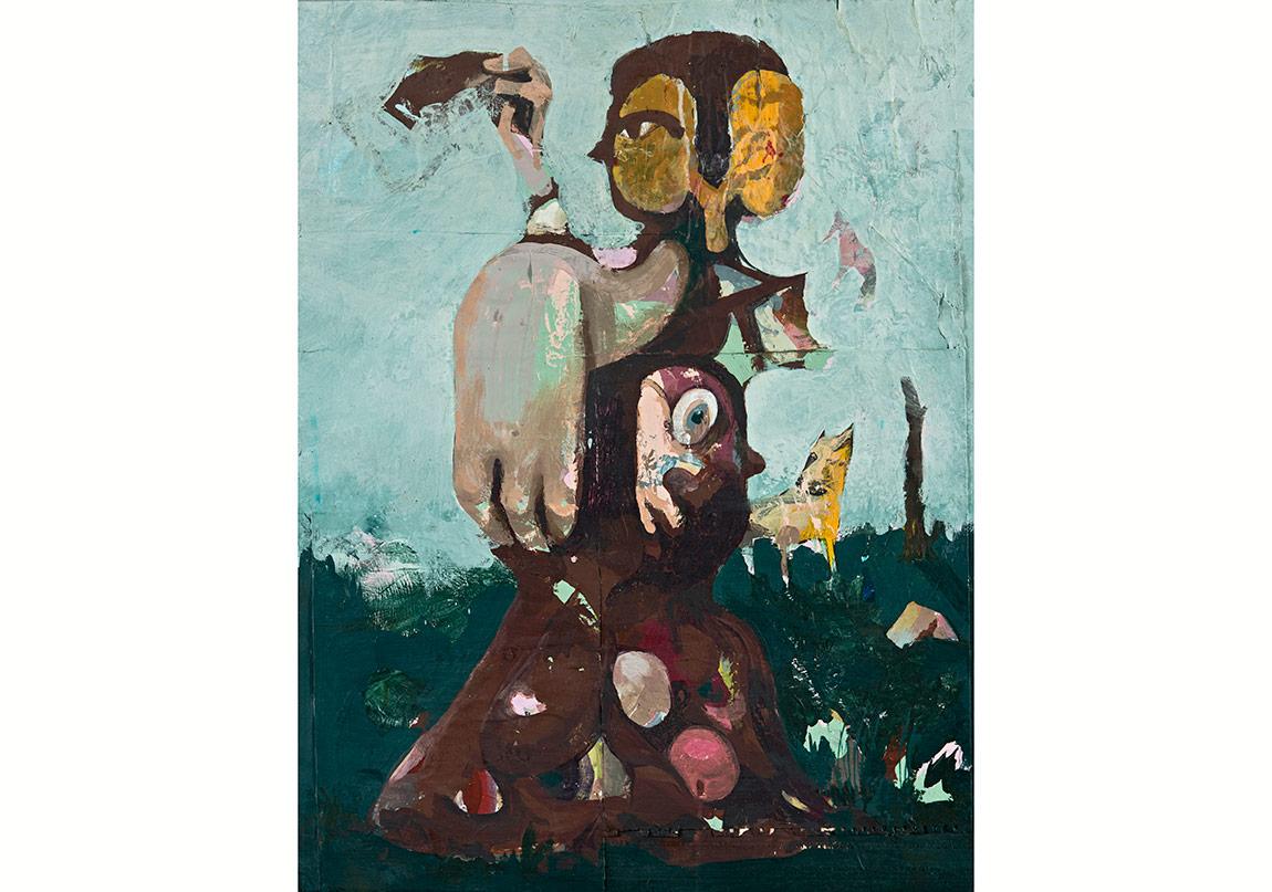 Farewell I, Ahşap üzerine karışık teknik, 76 x 57 cm, 2015