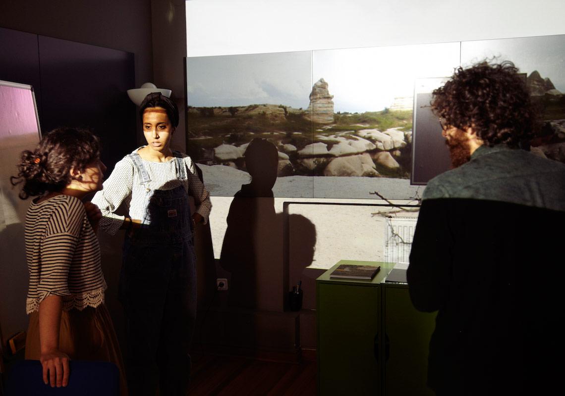 Farah Salem'in videosu hazırlanıyorFotoğraf: Júlia Soler