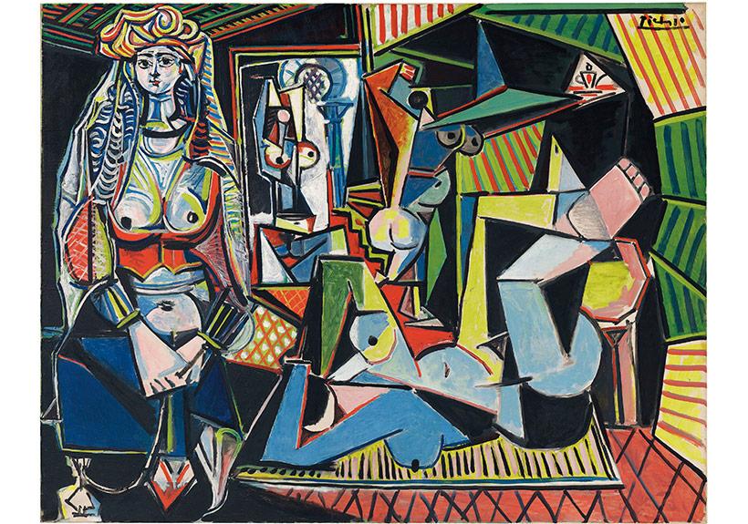 Pablo Picasso,Cezayirli Kadınlar, 'O' Versiyonu (Les femmes d'Alger (Version 'O')), 1955