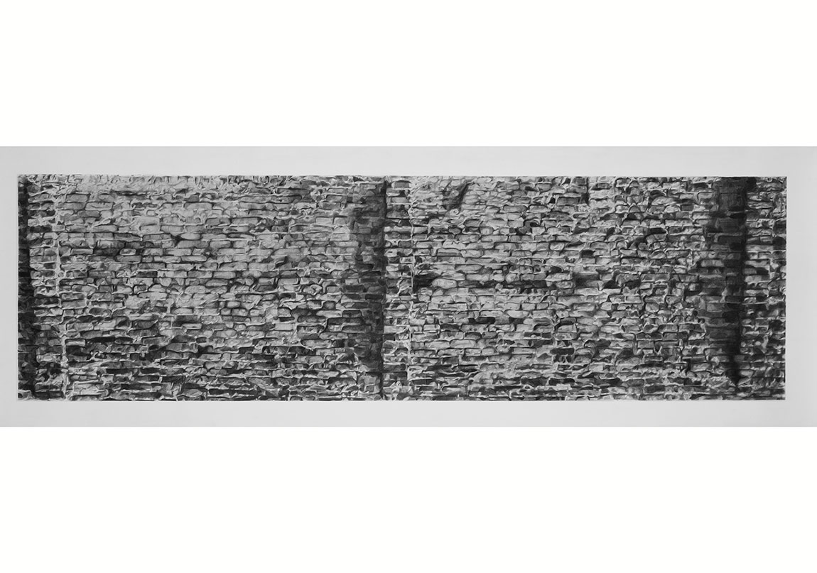 Tunca Subaşıİsimsiz, 2014Asitsiz kağıt üzerine füzen65 x 215 cm
