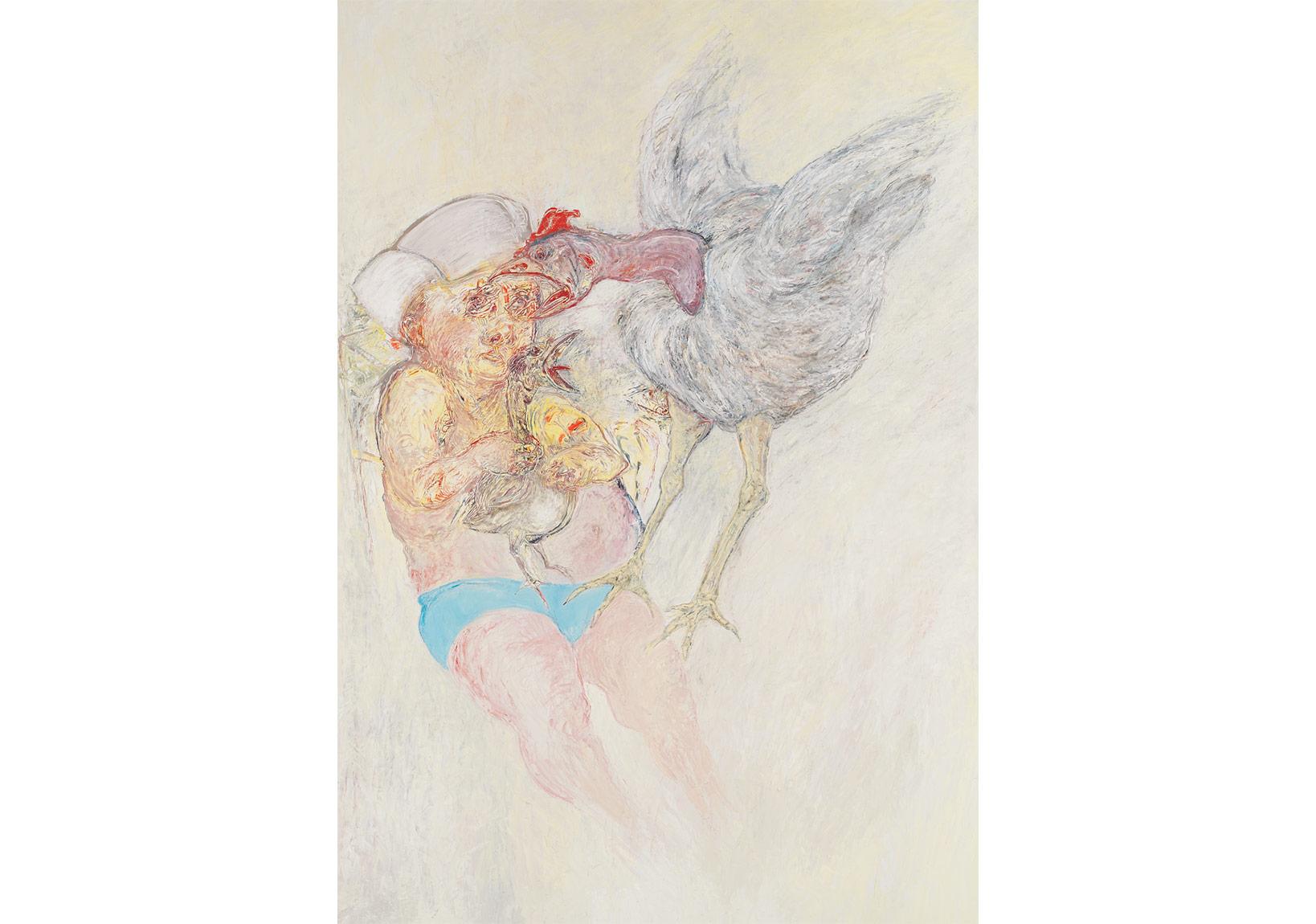 Bilmeden,2009,Tuval üzerine yağlıboya,250 x 180 cm.,Dr. Nejat F. Eczacıbaşı Vakfı Koleksiyonu