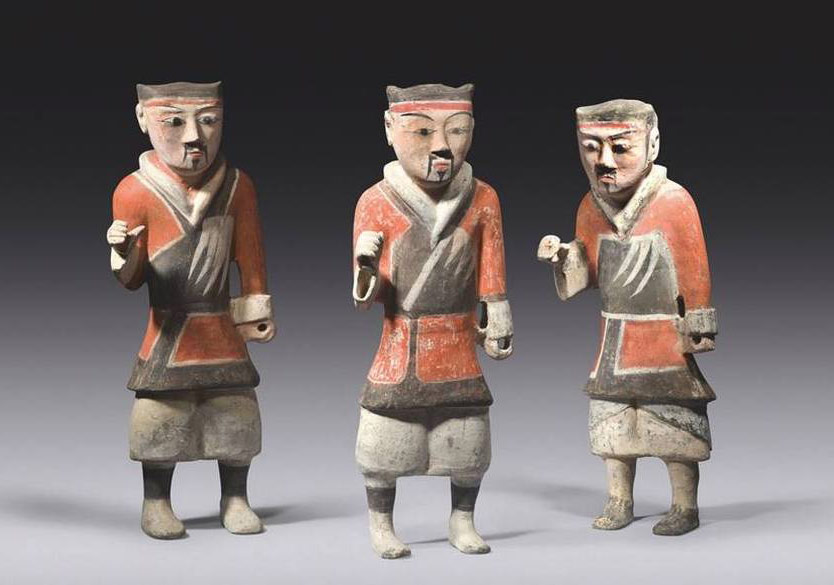 Han pottery warriors