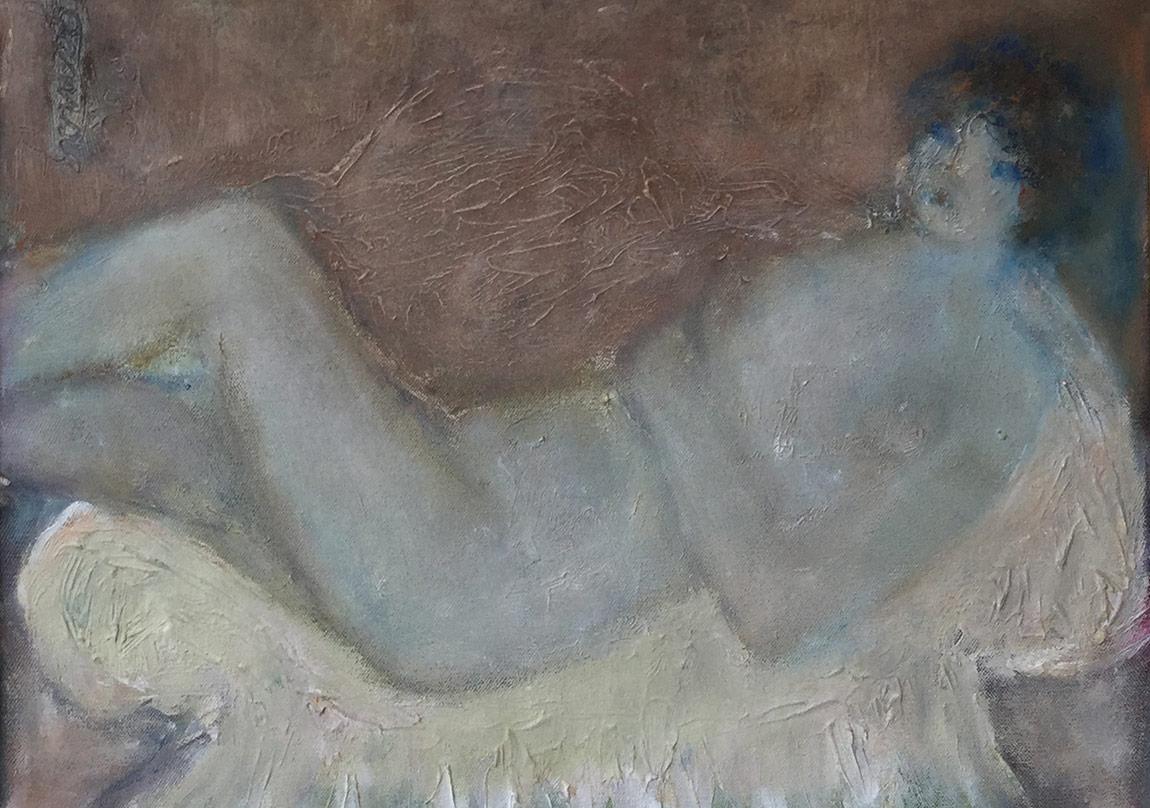 """LEYLA GAMSIZ, """"NÜ"""" 1997, 35x45cm. t.ü.yb"""
