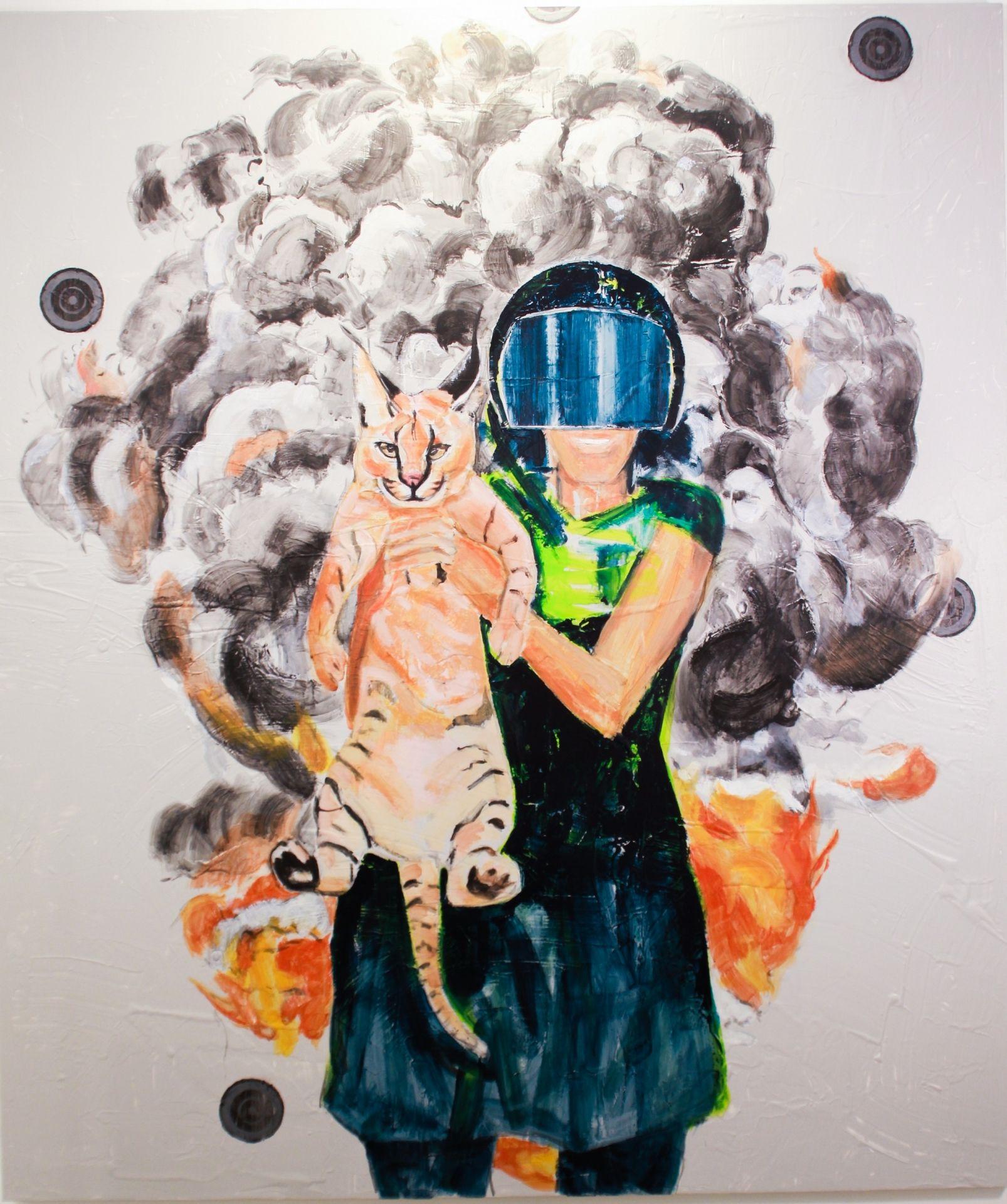 Beyza Boynudelik '' Ve Hiçbir Şeyin Farkında Değillerdi '' Tuval Üzerine Akrilik 189X162 cm
