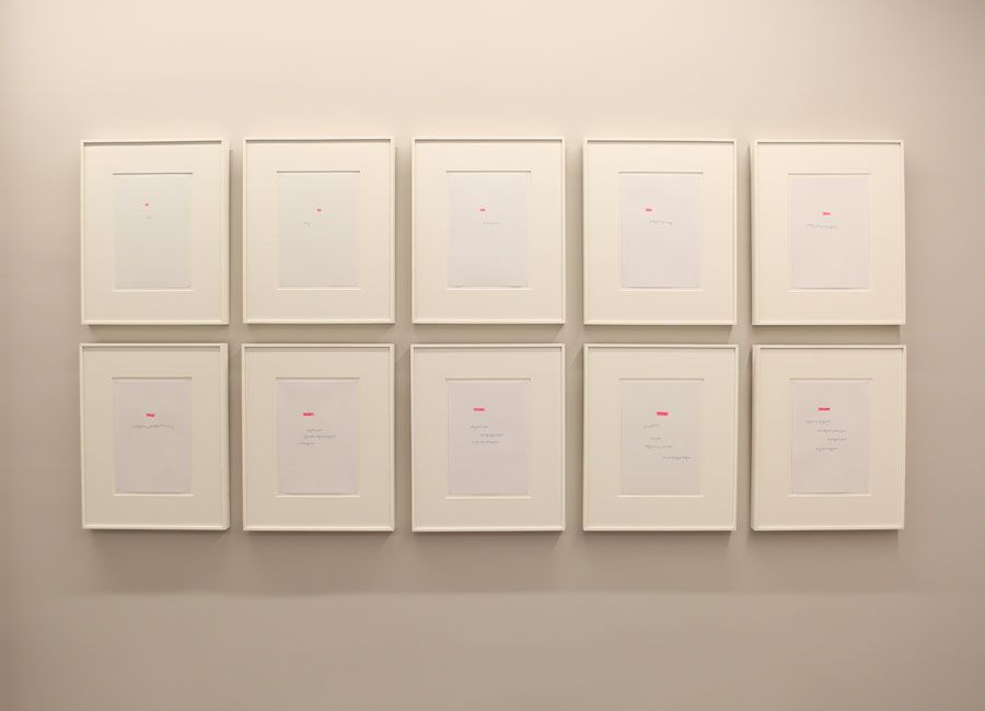 "Ayşe Erkmen ""Typed Numbers"" 2005"